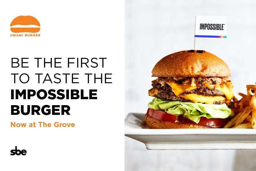 The Impossible Burger at Umami Burger
