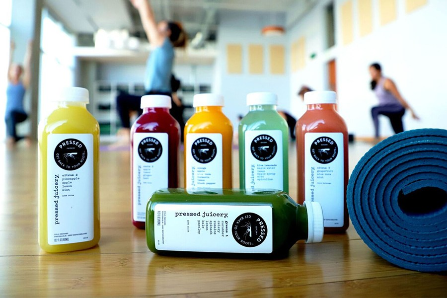 Cleanses and Complimentary Yoga with Pressed Juicery