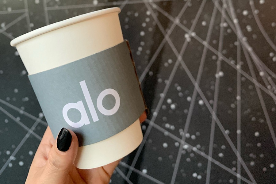 Complimentary Tea at Alo Yoga