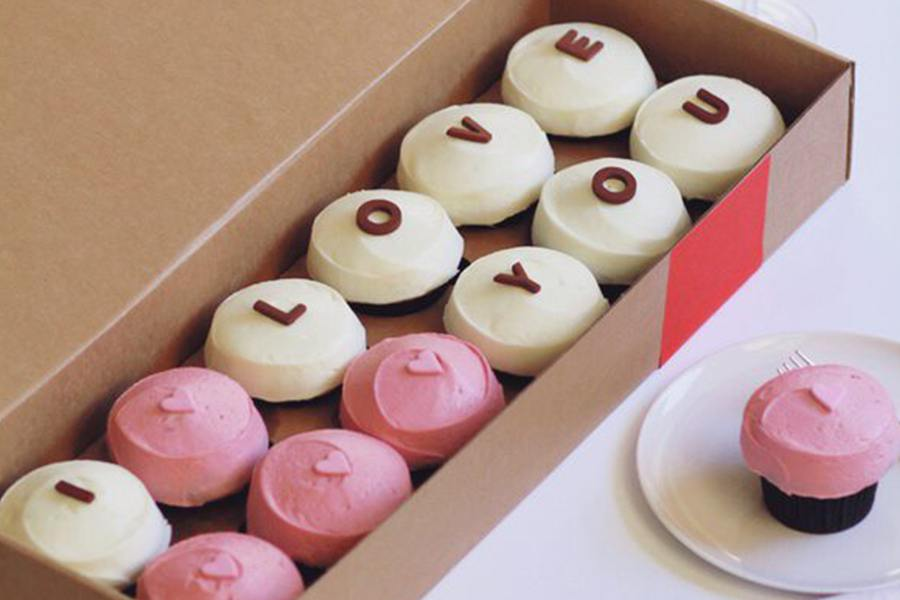 Valentine's Day Specials at <br> Sprinkles Cupcakes