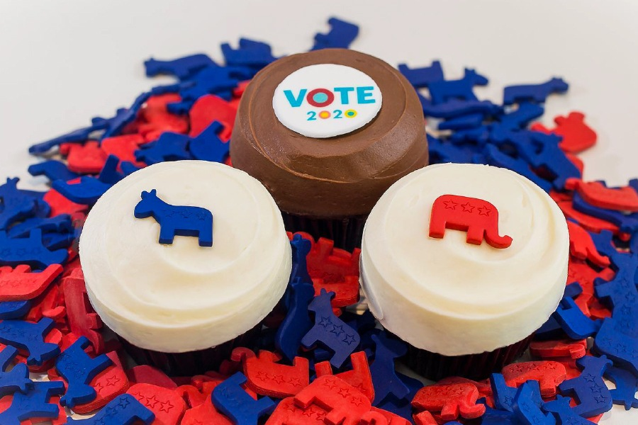 Vote 2020 Collection at Sprinkles Cupcakes