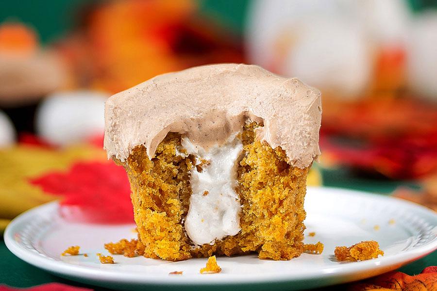 Fall Pumpkin Cupcake at Sprinkles Cupcakes
